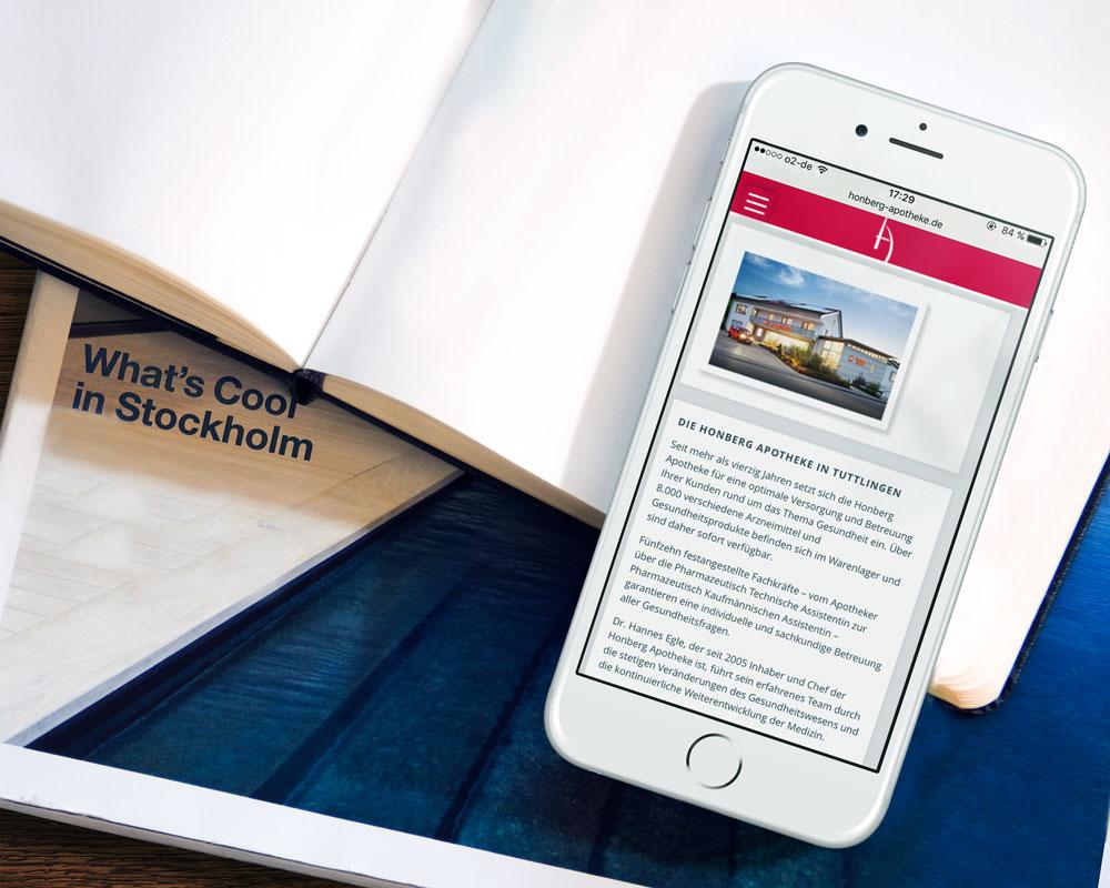 Mobile Internetseite